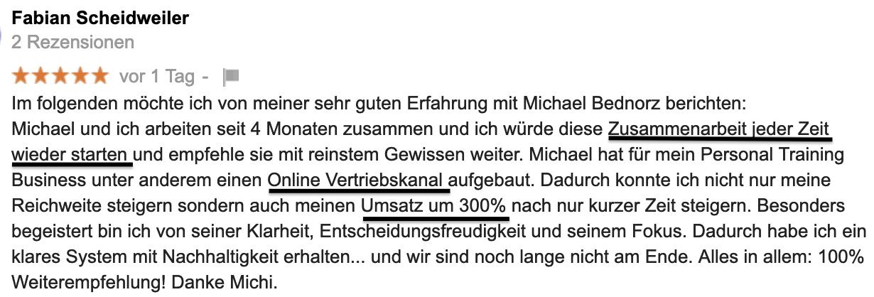 Testimonial Fabian Scheidweiler